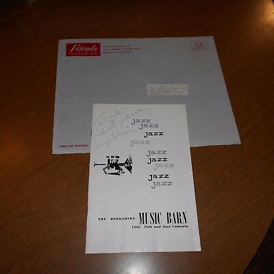 Sir George Shearing, was a British jazz pianist Hand Signed Program w/Envelope