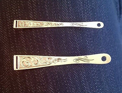 Antique Sterling Silver Bodkins - Same Pattern - Two Sizes
