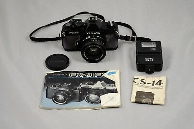Yashica FX-3 w/ 50mm f2.0 lens & CS-14 flash - meter out