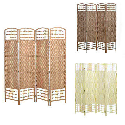 Hand Made Wicker Room DivIder/Separator/Privacy Screen 3 Colors 3 Sizes UK