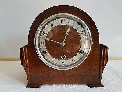 vintage Bentima West minster chime mantle clock