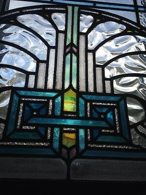 Art Deco leaded glass window circa 1928 E Pickett & Co Stained and leaded Leeds