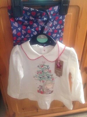 Baby girl set Top& Leggins Christmas theme, age 3-6 months BNWT