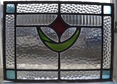 Leaded light stained glass windows panel. B046. WORLDWIDE DELIVERY!