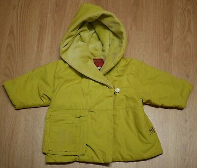 "toddler green kenzo designer ""jungle"" fleece lined rain coat 6 months"