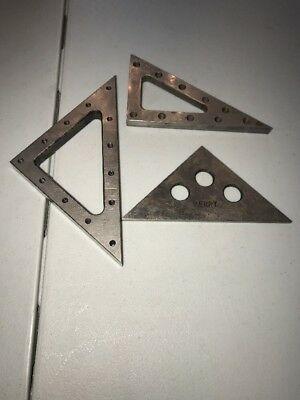 Angle Blocks 3 Vintage Toolmaker Machinist Inspection Grinding Mill Lay-Out