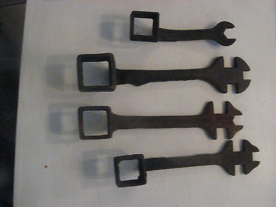 Lot 4 Vintage Wagon Tractor Wrenches International Harvester