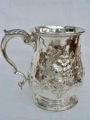 Superb Victorian Solid Silver Baluster Shaped Pint Tankard By Thomas White 1870