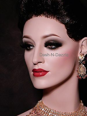 Female mannequin wig bust GLASS EYES!
