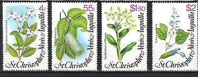 St Christopher Nevis Anguilla. Local Flowers 1980 Mnh