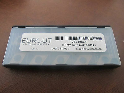10 Pcs Eurcut Dcmt 32.51-Jf Dcm11 Carbide Inserts Made In Luxembourg