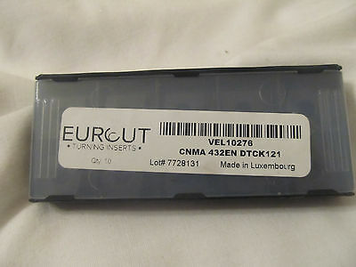 10 Pcs Eurcut Cnma 432En Dtck121 Carbide Inserts Made In Luxembourg