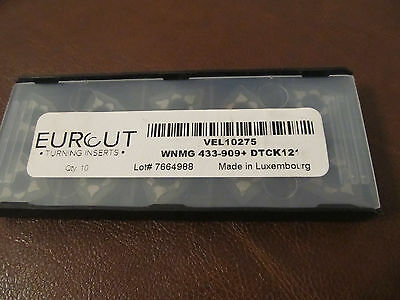 10 Pcs Eurcut Wnmg 433-909 Dtck 121 Carbide Inserts Made In Luxembourg
