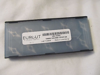 10 Pcs Eurcut Vnmg 332 Wm Dtcp 126 Carbide Inserts Made In Luxembourg