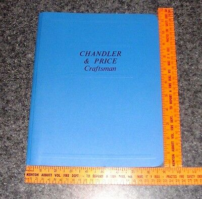Printing Chandler Price Instruction Book 32 pages + binder