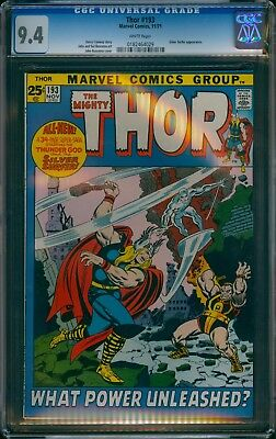 Thor #193 Cgc Cbcs 9.4 Nm 1971 Silver Surfer Cover White Avengers Marvel .99 Nr!