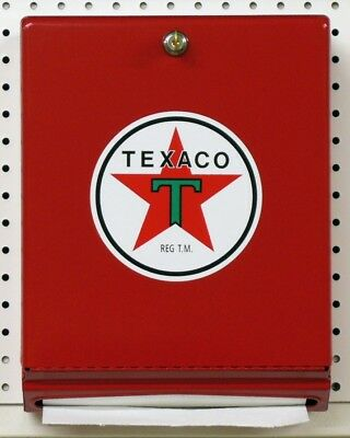 New Red Texaco Red Paper Towel Dispenser With 1000 Paper Towels - Free Ship*