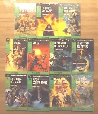 Librogame Advanced D&d Da 1 A 11 Mezza Serie Completa Libri Game Lotto