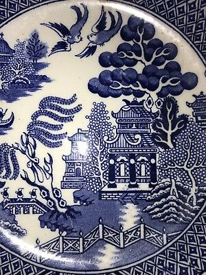 Rare Exquisite Allertons BLUE willow serving Bowl Beautiful Condition no chips05