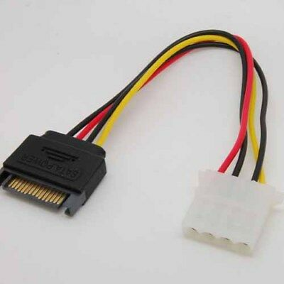 15 Pin SATA to 4Pin male to female Power Cable cord For IDE sx