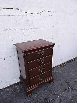 Solid Mahogany Nightstand End Table Side Table by James McCreery & Co. 8097
