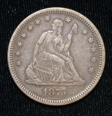 1875 Liberty Seated Quarter