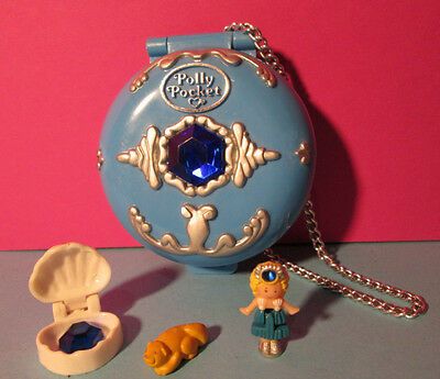 Polly Pocket Mini ♥ Meer Kristall Dose ♥ Jeweled Sea ♥ 100% Komplett ♥ 1992 ♥