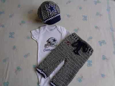 Dallas Cowboys Personalized Baby Bodysuit  and Long Pants