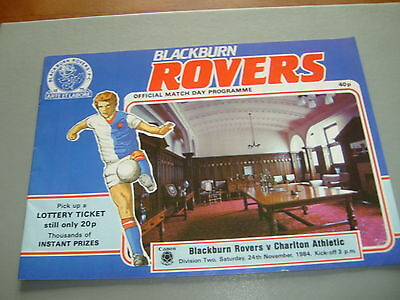 Blackburn v Charlton 84/85