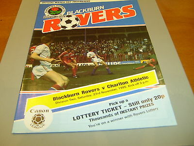 Blackburn v Charlton 85/86