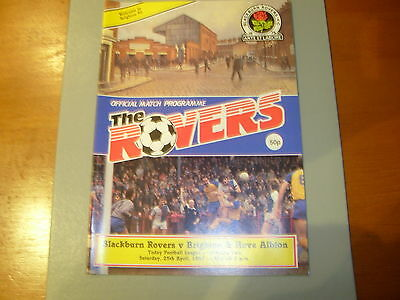 Blackburn v Brighton 86/87