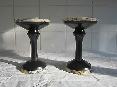 A wonderful set of Victorian Slate and Marble Clock Garnitures