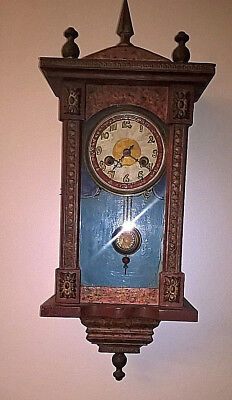 Antique Wooden Pendulum Controlled Wall Clock