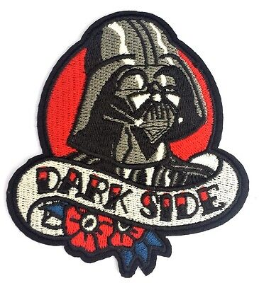 Star Wars Darth Vader Dark Side Quality Iron On Embroidered Patch Free P & P