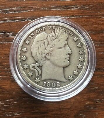1902-S Silver Barber Half Dollar In Fine To Vf Condition. Key Date !!!