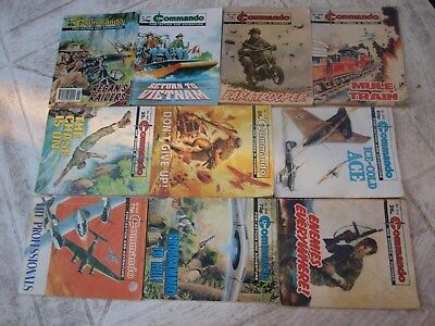 10 Old Commando and battle picture library War books Retro Collectable 17