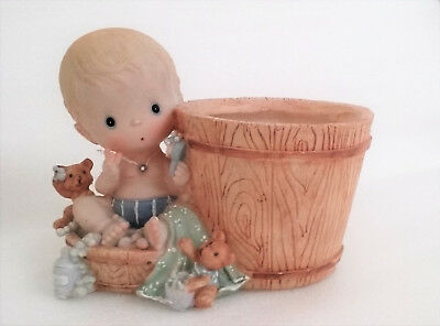 Baby and barrel planter/flower pot