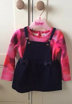Ted Baker Girls Outfit, Dress and Matching Top 6-9 Months