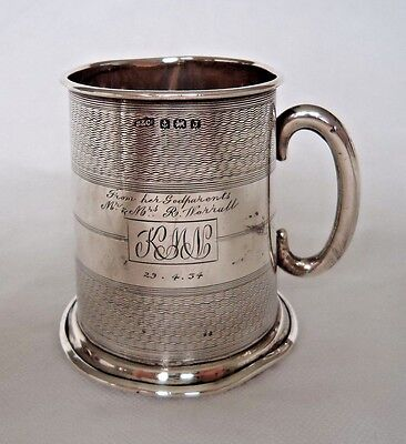 Antique 1933 Sterling / Solid Silver Cup / Mug