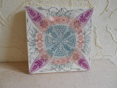 """!!! A Nice """" Floral Decorated """" Victorian Tile.!!!"""
