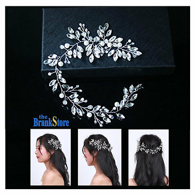 Wedding Hair Vine Brides Crystal Long Headpiece Jewelry Bridal Hair Accessories