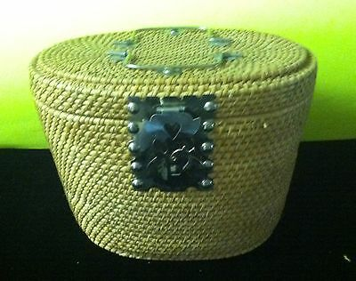 Antique Hand Made Basket for Chinese Tea Set