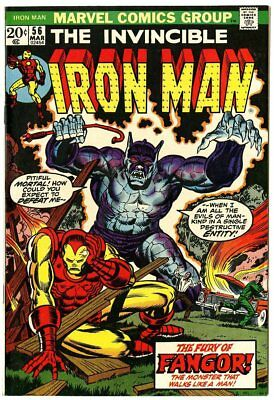 Iron Man #56 VF 8.0 white pages  Starlin art  Fangor!  Marvel  1973  No Reserve