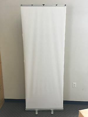"""Aluminum 31""""x80"""" Retractable Roll Up Banner Stand Pop Up Trade Show Display"""