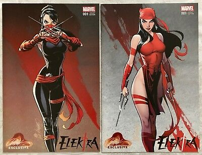 Elektra #1 J Scott Campbell Cover A & B Variant, Both NM+, Marvel Comics