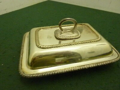 "10"" Walker & Hall Oblong EPNS Silver Plated Lidded Entree Dish Food Serving Tray"