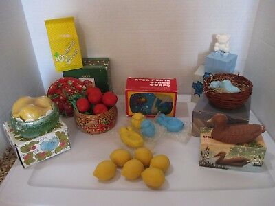 Vintage Lot Avon Soaps in Boxes Kids Adult Birds, Teddy Bear, Fun In Space