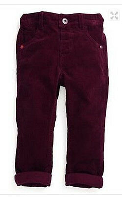 Baby boys trouser NEXT burgundy corduroy age 3 6 months NEW