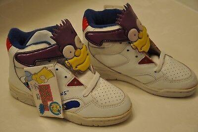 "RARE The SIMPSONS ""BARTMAN"" TENNIS SHOES 1992 from JAPAN W/Tags-SIZE BOYS ""ONE"""