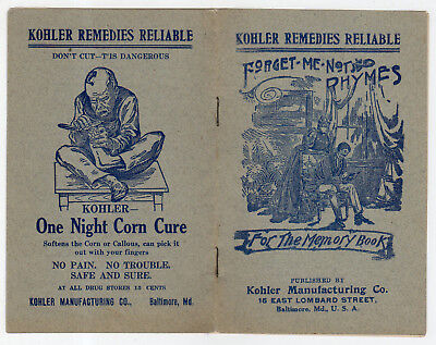 Kohler Remedies Reliable, Forget-Me-Not Rhymes Medicine Booklet, Chinese Man